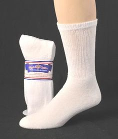 DIABETIC MEN'S SOCKS WHITE NON BINDING~12 PAIRS~13-15 SEALED PACKAGE FOR DAD #choice #CasualCREW
