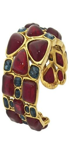 Vintage Chanel Cuff beauty bling jewelry fashion