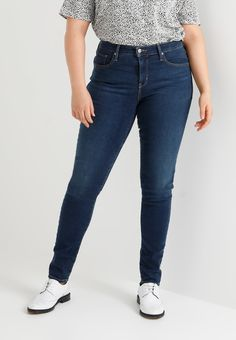 Levi's® Plus 310 PL SHAPING SUPER SKINNY - Jeans Skinny - jet setter plus - ZALANDO.BE Super Skinny Jean, Textiles, Jeans Skinny, Mannequin, Jet, Pants, Fashion, Bobby Socks, Being Skinny