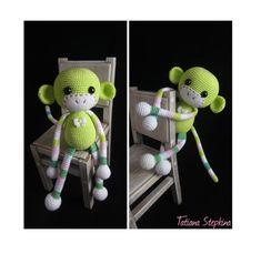 Christmas gift for 2016 — Green Monkey Crochet Amigurumi, Amigurumi Toys, Amigurumi Patterns, Crochet Dolls, Crochet Baby, Knit Crochet, Master Class, Plastic Bag Crochet, Toy Monkey