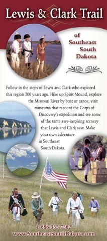 Lewis & Clark Trail of Southeast South Dakota Yankton South Dakota, Travel Literature, Lewis And Clark Trail, Louisiana Purchase, Missouri River, Travel Brochure, North South, Travel With Kids, Canoe