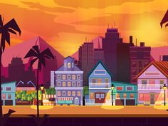 Yo! This is one of my favourite game background in Game Backgrounds Collection.   You can also buy Set of similar backgrounds here: https://creativemarket.com/VitaliyVill/623058-6-City-Game-Backgro...
