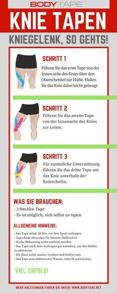 Knie Tapen - Kinesiologie Anleitung für das Knie - Kniegelenk Tapen Anleitung Mehr dazu unter: www.bodytape.net