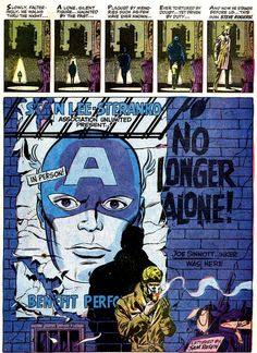 Today: some of my favorite Jim Steranko splash pages! Splash page from Captain America (March script, pencils, and colors. Comic Book Artists, Comic Books Art, Comic Art, Captain America Vs Hulk, Jim Steranko, Sci Fi Comics, Barbarella, Comic Panels, Jack Kirby