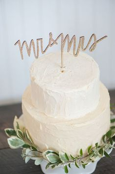 MR and MRS wedding cake topper in gold silver or by emilysteffen