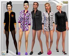 Night shirt at Dreaming 4 Sims via Sims 4 Updates