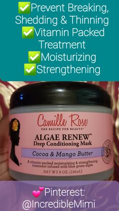 A vitamin packed moisturing & strengthening hair treatment that will prevent breakage, shedding and thinning. Encourages growth and healthy natural hair. #washandgo #naturalhair #type4hair #berrycurly #kinkychicks #kinkycurly #naturals #hairjourney #pefectcurls #curlybeauties #teamnatural #naturallycurly #naturalhaircommunity #curlynatural #naturalhairloves Deep Conditioner For Natural Hair, Vitamin Packs, Type 4 Hair, Wash And Go, Deep Conditioning, Hair Journey, Naturally Curly, Vitamins, Natural Hair Styles