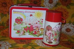 Vintage Strawberry Shortcake Lunch Box & Thermos
