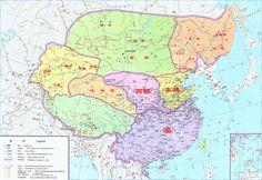 中國梁、東魏、西魏時期全圖
