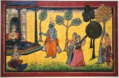 Indian Art, Krishna, Asia, Miniatures, Architecture, School, Painting, Indian Artwork, Arquitetura