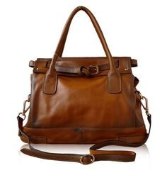 17'' Superior Genuine Cow Leather Tote Bag/Women's Leather Shoulder Bag/Leather Messenger Bag/Leather Briefcase/Leather Laptop Bag/iPad bag op Etsy, £81.27