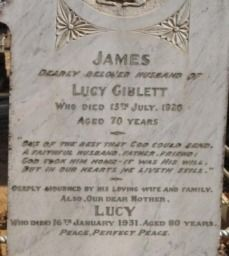 lucy giblet hubby My Heritage