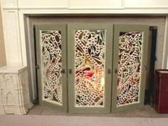 Mosiac Stained Glass Fireplace Screen : Archive : Home & Garden Television. Maybe do for front foyer windows.