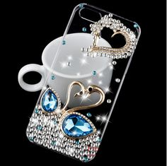 Galaxy S5, S4, Note 4, 3 - Twinkling Colored Rhinestones & Gems in Unique Designs & Assorted Colors - Thumbnail 1