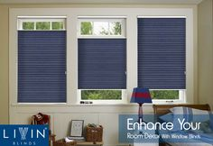 Add #style to your #room with these trendy premium high quality #CellularBlinds from the Blue Blackout Range. Add privacy and elegance to your room with these #windowblinds. Range starting from Rs 6800/- (per m2). http://livinblinds.com/category/cellular-window-blinds #BlindsForWindow #HighQuality #Blinds