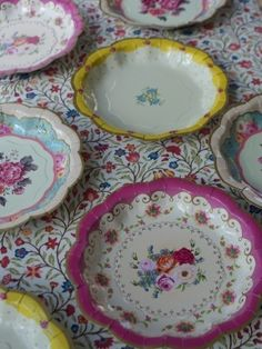 Party Tableware paper cups plates straws and jelly pots and cases & Victorian China Paper Plates - way too pricey for us but we like the ...