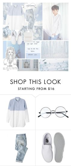 """""""Kpop Zodiac: Libra - Yixing"""" by wonders-of-the-world ❤ liked on Polyvore featuring Monki, Wrap, Vans and ALDO"""