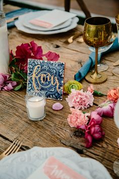 unique table number - photo by The Melideos http://ruffledblog.com/bougainvillea-estate-wedding