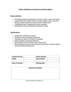 This Free Printable Job Description Template Is Great For