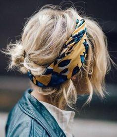 9+1 τρόποι για να φορέσετε το φουλάρι στα μαλλιά σας   Jenny.gr