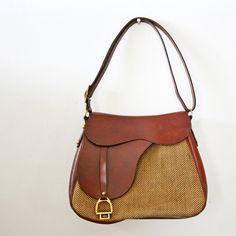 Vintage equestrian style bag