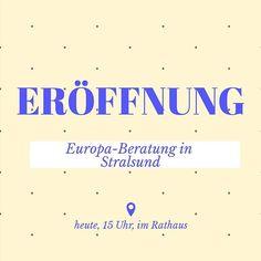 Heute ist es endlich soweit. Unsere erste Station der Europa-Beratung wird in Stralsund eröffnet. Mehr dazu unter https://ift.tt/2lxmIk8 #EIZRostock #EDIC-MV #europe #beratung #mv #stralsund #willkommen #li