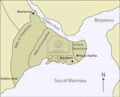 Situada en la orilla Europea del Bósforo, el estrecho que separa Asia de Europa, la nueva capital tenia una ubicación estratégica para afianzar el imperio romano.