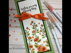 Art Impressions Poppy Bookmark Card – Pink Whisper Designs