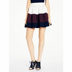 colorblock coreen skirt