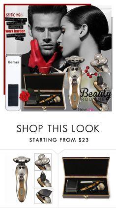 """Newchic.com-20"" by bebushkaj ❤ liked on Polyvore featuring beauty, Beauty, beautiful, men and newchic"