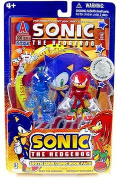 Sonic The Hedgehog: Sonic & Knuckles the Echidna 3 inch Figure with Comic Book Exclusive - HobbyStuf Knuckles The Echidna, Sonic & Knuckles, Sonic Birthday Parties, Marvel Room, Star Wars Party, Videogames, Sonic The Hedgehog, Action Figures, Geek Stuff