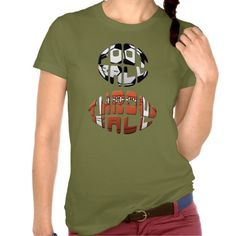"""Football Throwball"" Women's Soccer T-Shirt. To see this design on the full range of products, please visit my store: www.zazzle.com/gamefacegear*/ and click on the 'Soccer Football Designs' category. #soccer #football #MLS"