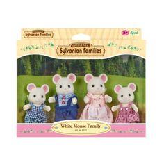 Famille souris blanche Sylvanian pour enfant à partir de de 3 ans - 24,99 € http://www.oxybul.com/jeux-d-imagination/figurines-et-mondes-imaginaires/personnages/famille-souris-blanche/produit/322480