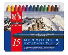 Caran d'Ache Classic Neocolor II Water-Soluble Pastels, 1…