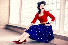 Rockabilly Wonder Woman Cosplay! | Comic Bastards. Love the pin-up twist to classic superheros.