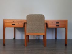 Danish teak Office design Ejner Larsen & Aksel Bender Madsen by Willy Beck, mid-century Scandinavian Vintage Chairs, Cabinet Makers, Scandinavian, Craft Supplies, Two By Two, Dining Chairs, Art Deco, Mid Century, Architecture