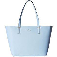 Pre-owned Kate Spade Leather Tote ($360) ❤ liked on Polyvore featuring bags, handbags, tote bags, blue, blue tote, genuine leather tote, leather totes, kate spade purses and blue leather handbags