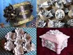 Mikor megláttam ezeket az ötleteket, a szavam is elállt! Nem tudtam, hogy ennyi minden készíthető tojástartókból! - Bidista.com - A TippLista! Cd Crafts, Diy And Crafts, Paper Crafts, Christmas Ornament Crafts, Paper Flowers Diy, Wreath Tutorial, Decorative Boxes, Projects To Try, Handmade