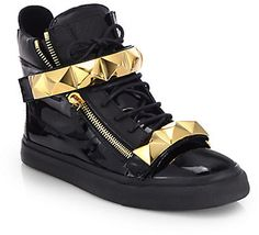 Giuseppe Zanotti Pyramid Bar High-Top Sneakers on shopstyle.com