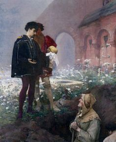 Pascal Dagnan-Bouveret (1852-1929). Hamlet and the Gravedigger. 1883.