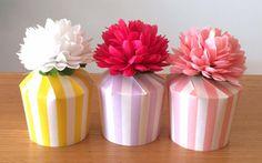 お菓子ラッピングやパーティーの持ち帰りに!紙コップを使って簡単&かわいいラッピング|by hirommy anniversary