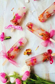 edible flower summer popsicles