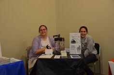 Krista Brack @ the Rhode Island EDS table 2014 Mingle & Jingle event