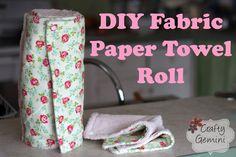 "Fabric ""Paper"" Towel Roll-  DIY Tutorial"