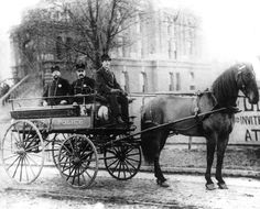 old Chicago Police horse and buggy from the late 1800's