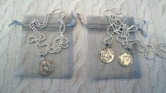 mens womens silver plated ball chain NECKLACE HALF PENNY COIN Pendant UNISEX
