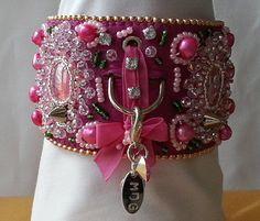Littel Dog's Beauty - Halsbanden-exclusief 'Dog's Beauty' - MDG-Bead-Embroidery Sieraden en accessoires