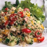 Quinoa and Smoked Tofu Salad