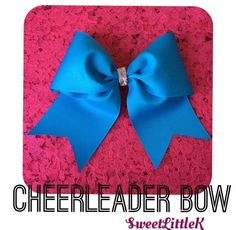 Beautiful blue cheer bow
