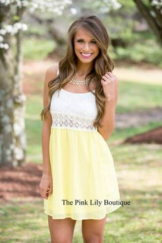 You guys obsessed over our Counting On You Lace Dress, and now you can have it in this bright new color! Features white lace detail on the top, adjustable straps, zipper in the back, and lining under the skirt!